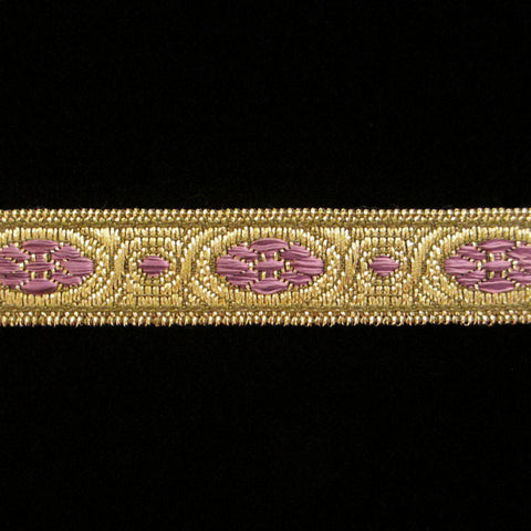 "833.4 Lavender metallic galloon narrow 1/2"" (13mm) - Palladia Passementerie"