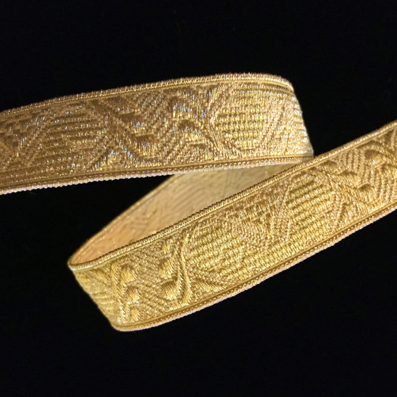 "854.1 Damask bright gold metallic galloon 5/8"" (15mm)"
