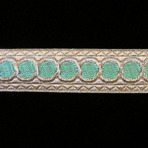 "856.2 Green dot metallic galloon 1"" (25mm) - Palladia Passementerie  - 1"