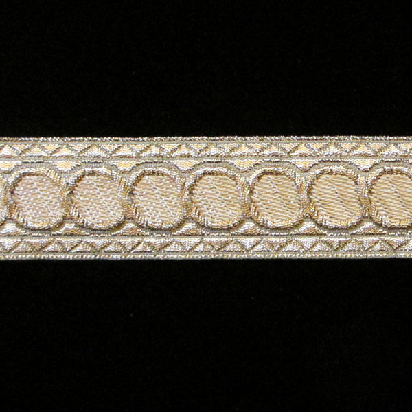 "856.3 Mocha dot metallic galloon 1"" (25mm) - Palladia Passementerie  - 1"