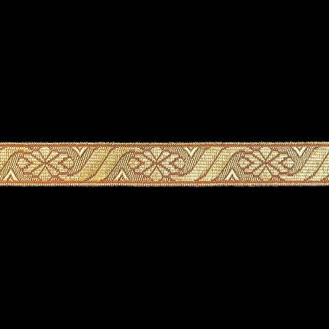 "871.1 Metallic galloon trim - ""Scroll"" bright gold - 5/8"" (16mm)"