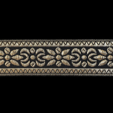 "R068 CLEARANCE Metallic galloon trim - ""Oslo"" 1.5"" (38mm) - Palladia Passementerie"