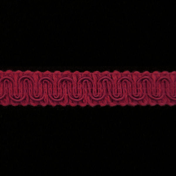 "R080 REMNANT - Gimp trim dark red - 5/8"" (16mm) - 1y 14"" long"