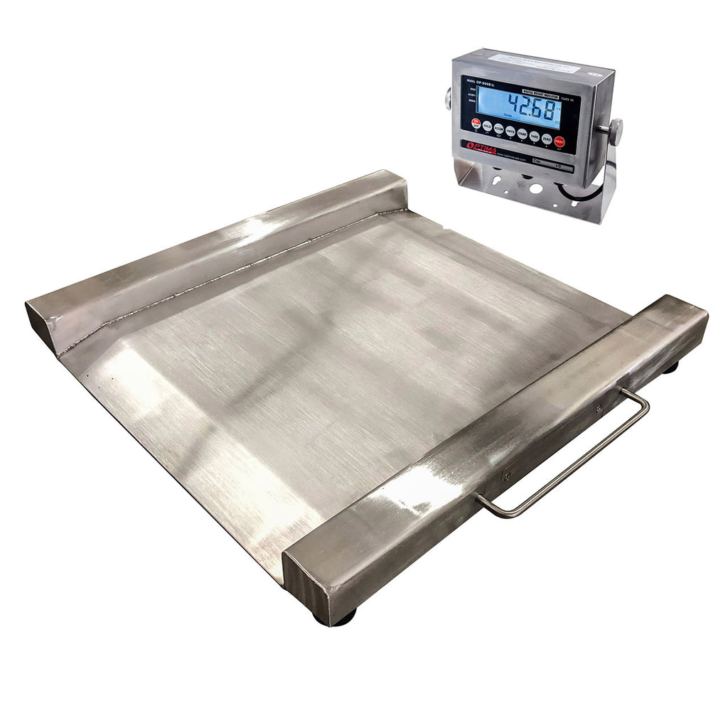 "28"" x 28"" x 1.5"" H Stainless Steel Drum Scale"