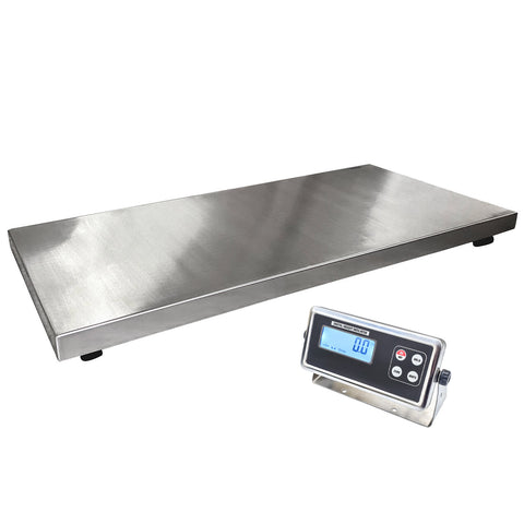 "43"" x 20"" x 2""H Stainless Steel Platform Scale 1,000 lbs"
