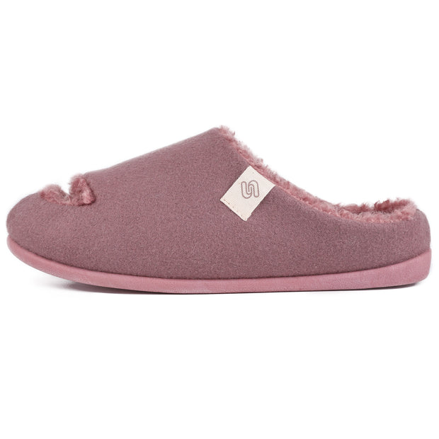 Agatha Open Toe Slipper in Dusty Rose