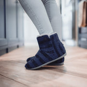 Jenny Boot Slipper in Navy Blue