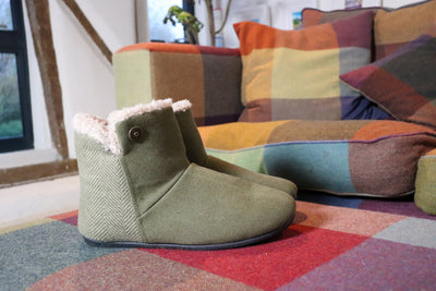 Jasper Slipper Boot in Moss Green