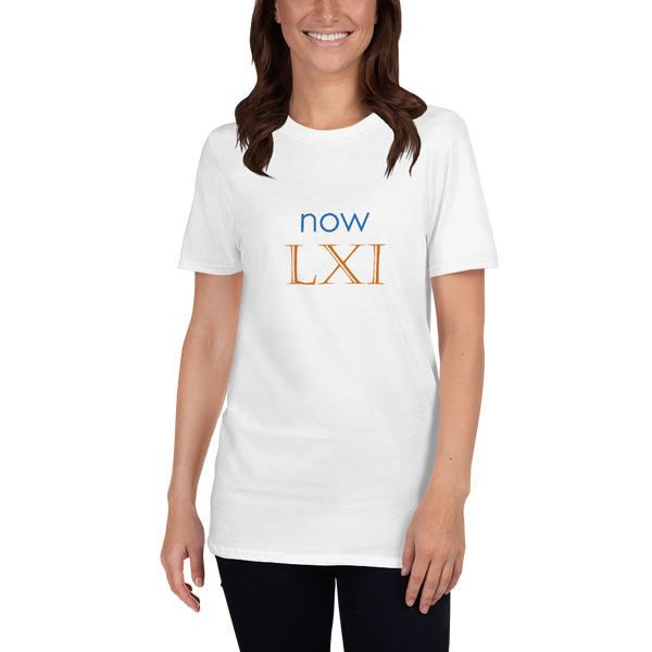 Now LXI (now 61, Roman numerals) - celebrate the birthday