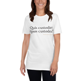 Latin - Quis custodiet, light shirt