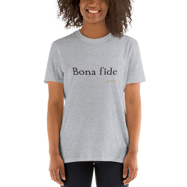 Latin - Bona fide, light shirt