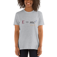 Einstein's equation E=mc2, light shirt