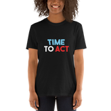 Keywords - Time to act, dark shirt