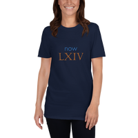 Now LXIV (now 64, Roman numerals) - celebrate the birthday
