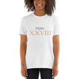 Now XXVIII (now 28, Roman numerals) - celebrate the birthday
