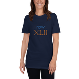 Now XLII (now 42, Roman numerals) - celebrate the birthday