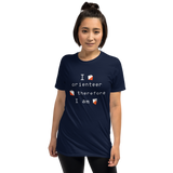 Orienteering - I orienteer therefore I am, dark shirt