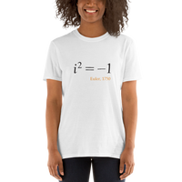 Math - Euler, the square root of minus one, light shirt