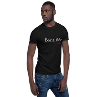 Latin - Bona fide, dark shirt
