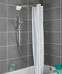 collapsible shower curtain