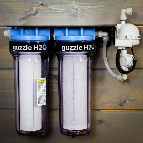 Stealth 2x10- Built in UV and Carbon Block Water Purification System by Guzzle H2O