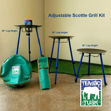 Load image into Gallery viewer, Adjustable Leg Skottle Grill Kit by TemboTusk