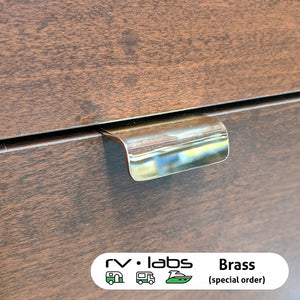 Luxury Metallic Finger Pull Drawer Latch 100mm