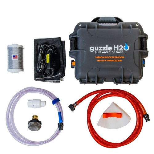 Stream- Portable UV and Carbon Block Water Purification System by Guzzle H2O