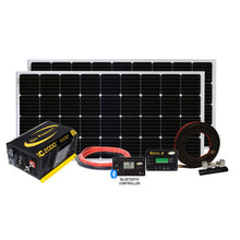 Load image into Gallery viewer, Solar Elite Charging System (380 Watts +2000W PSW Inverter)
