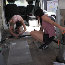 Load image into Gallery viewer, eamon and bec heated floor mat