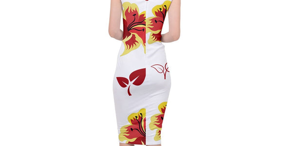Kalent Zaiz (White)Sleeveless Pencil Dress