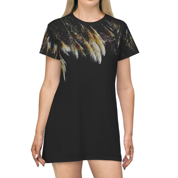 Sexy T-Shirt Dress (Black)