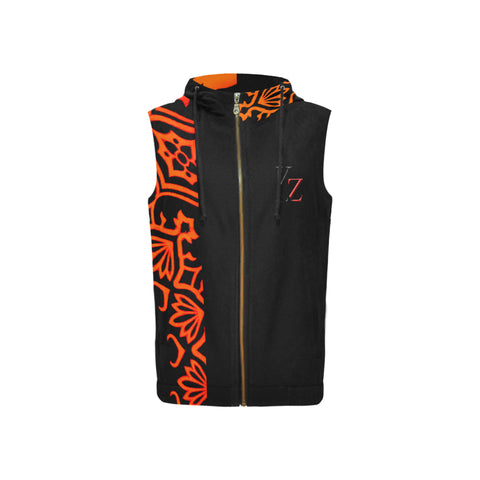 Kalent Zaiz Women's Full Zip Sleeveless Hoodie