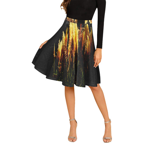 Kalent Zaiz Pleats Skirt Women's Midi Skirt (Black) /Designed by kalent zaiz