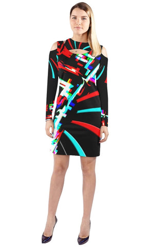 DuvZaiz Halter Long-Sleeve Dress