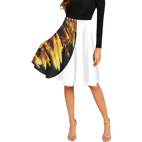 Kalent Zaiz Pleats Skirt Women's Midi Skirt (White) /Designed by Kalent Zaiz