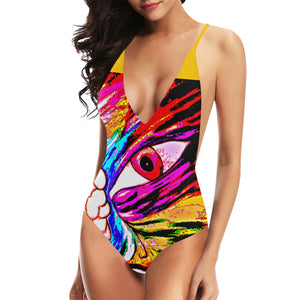 We have some exciting news to share! Since the demand was so high, we decide to create a new colorful Ey one-piece swimsuit. Please enjoy it and send us your pic with our design and will to add it to (OUR CLIENTS PICK UP !!!) section in our home page website.