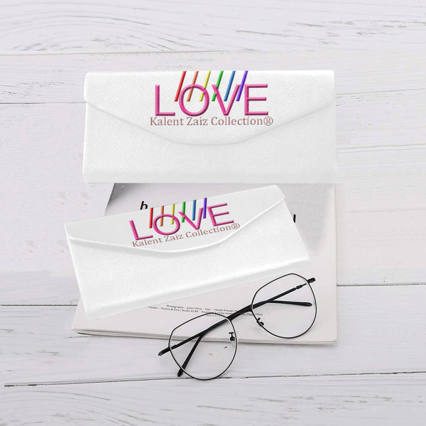 WE LOVE! Foldable Glasses Case  Type: PU Leather, All Over Printing, Glasses Case