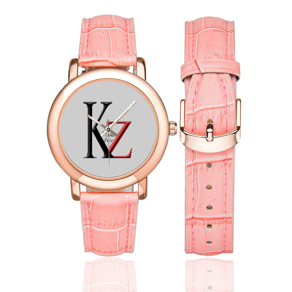 Rose Gold-plated Leather Strap Watch