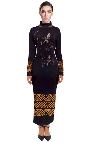 Kalent Zaiz Turtleneck Black Dress