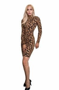 Kalent Zaiz Skin-Less Leopard Long-Sleeve Dress Kalent Zaiz Skin-Less Leopard Long-Sleeve Dress Kalent Zaiz Skin-Less Leopard Long-Sleeve Dress Kalent Zaiz Skin-Less Leopard Long-Sleeve Dress Kalent Zaiz Skin-Less Leopard Long-Sleeve Dress