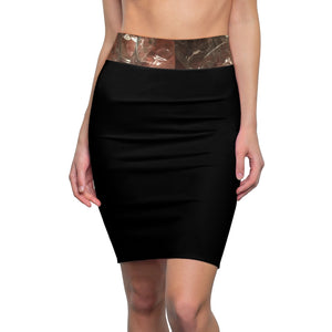 Kalent Zaiz Women's Black Pencil Skirt