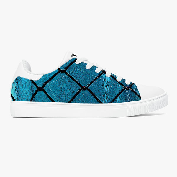 Over the Sea Classic Low-Top Leather Sneakers - White/Black