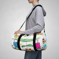 Unisex Scribble Duffle Bag