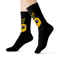 A BROKEN KING IS STILL A KING/A QUEEN IS STILL A QUEEN YELLOW HEART Sublimation Socks
