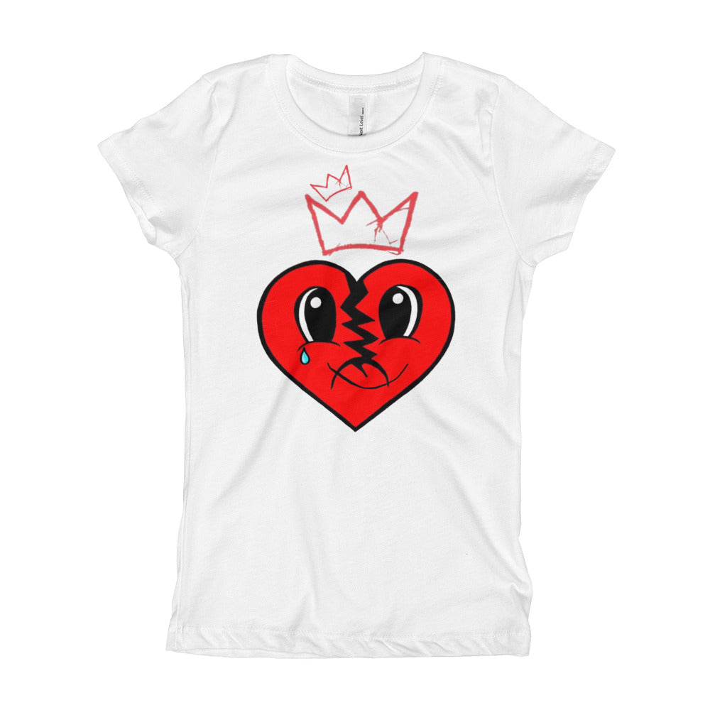 Girl's A BROKEN QUEEN IS STILL A QUEEN RED HEART TEE