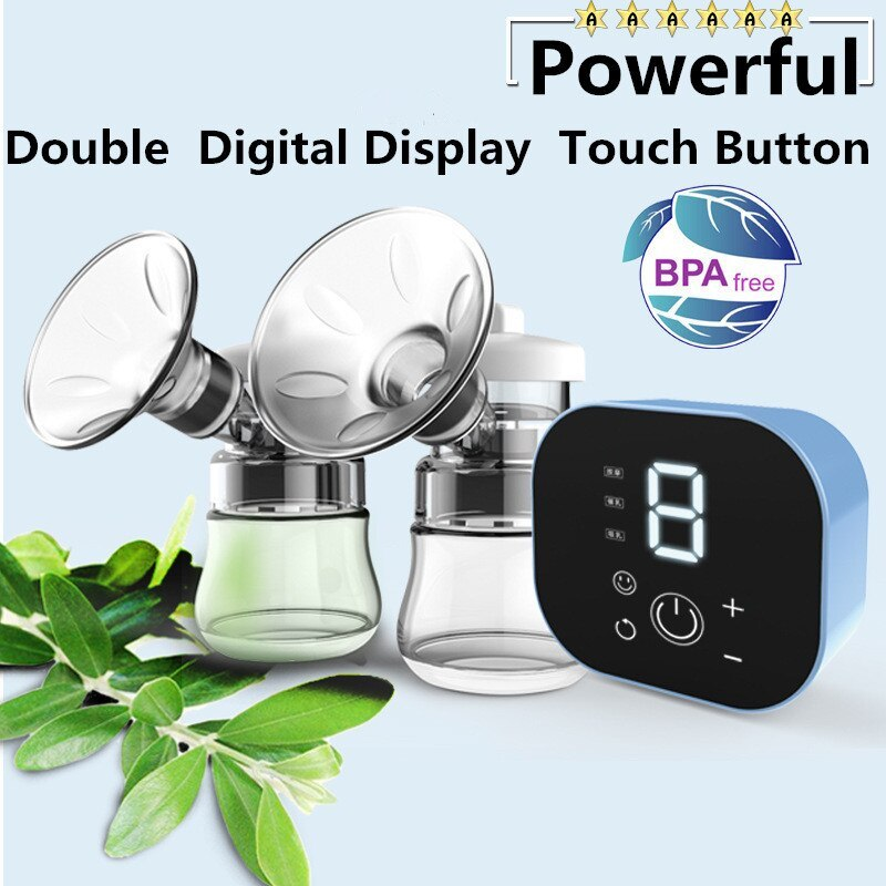 Double Electric Baby Milk Breast Pump Powerful Intelligent Automatic Baby Breast Feeding Bottle