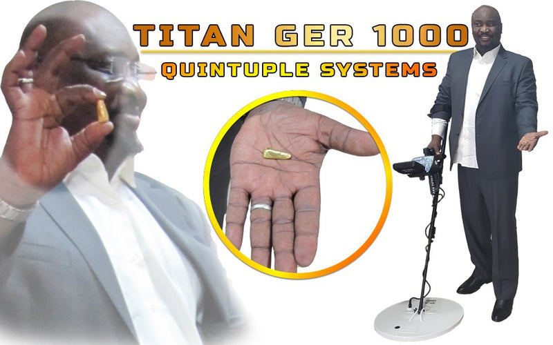 TITAN GER - 1000 Device Underground Gold , Metals and Treasures Detector