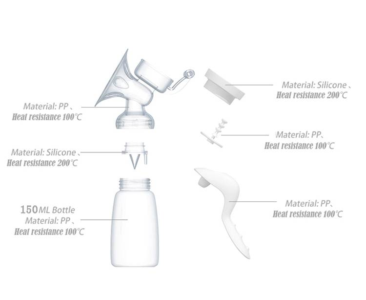 Manual Breast Pump Powerful Feeding Baby Milk Bottles High Quality