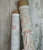Heritage Cotton Rose Cartouche 'Pale Blue'